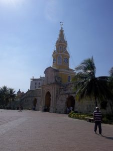 Clock Tower in Cartagena