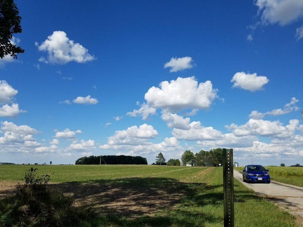 Blue skies in northwestern Ohio